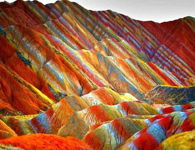 le-montagne-arcobaleno-in-cina-nello-Zhanfye-Dancxia-Geopark