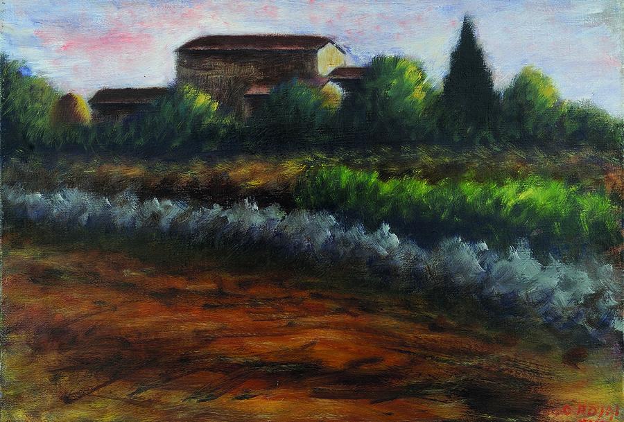 Montevarchi-arezzo-Ottone-Rosai-Paesaggio-1939-Olio-su-tela-cm-40x50